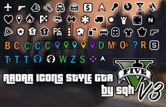Иконки радара как в GTA V
