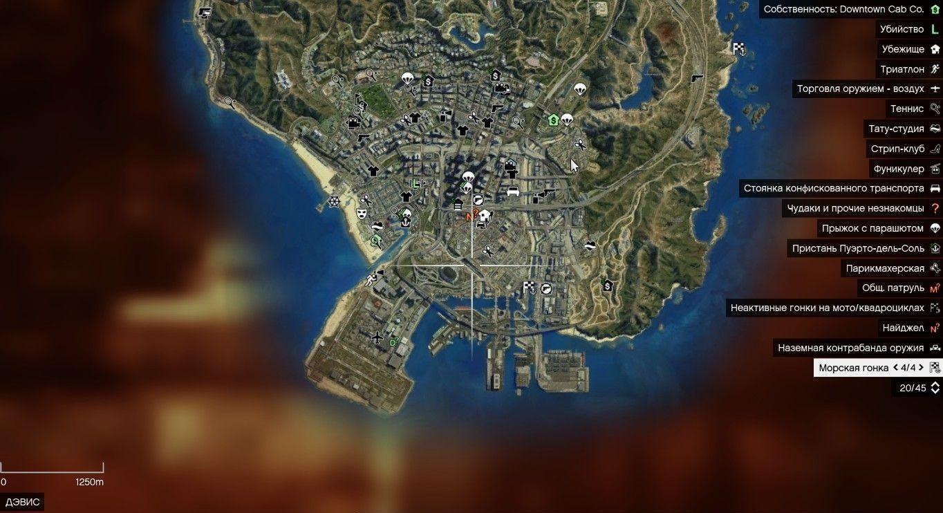 Спутниковая карта HD v2.0 для GTA 5