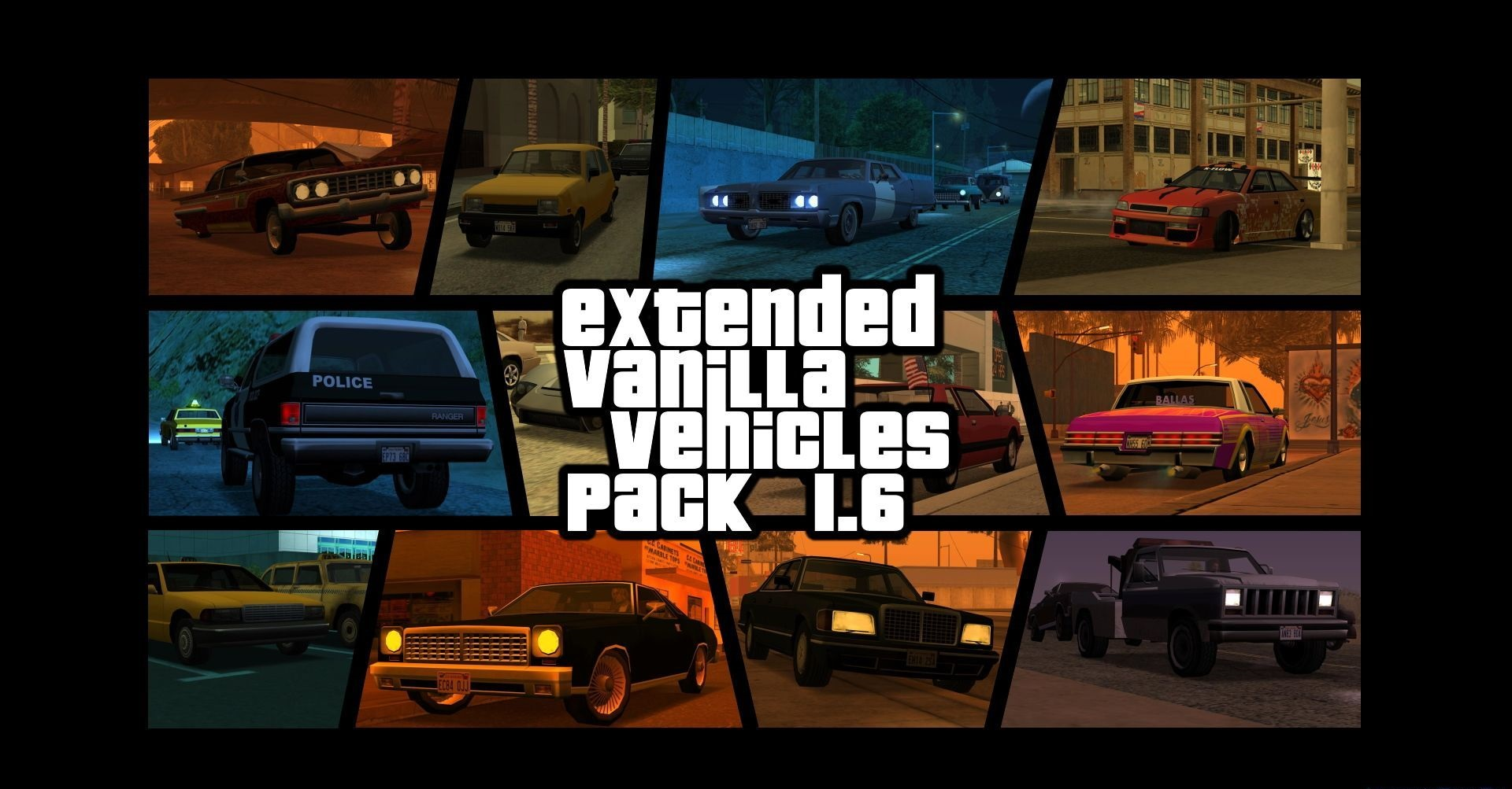 Extended Vanilla Vehicles Pack 1.6