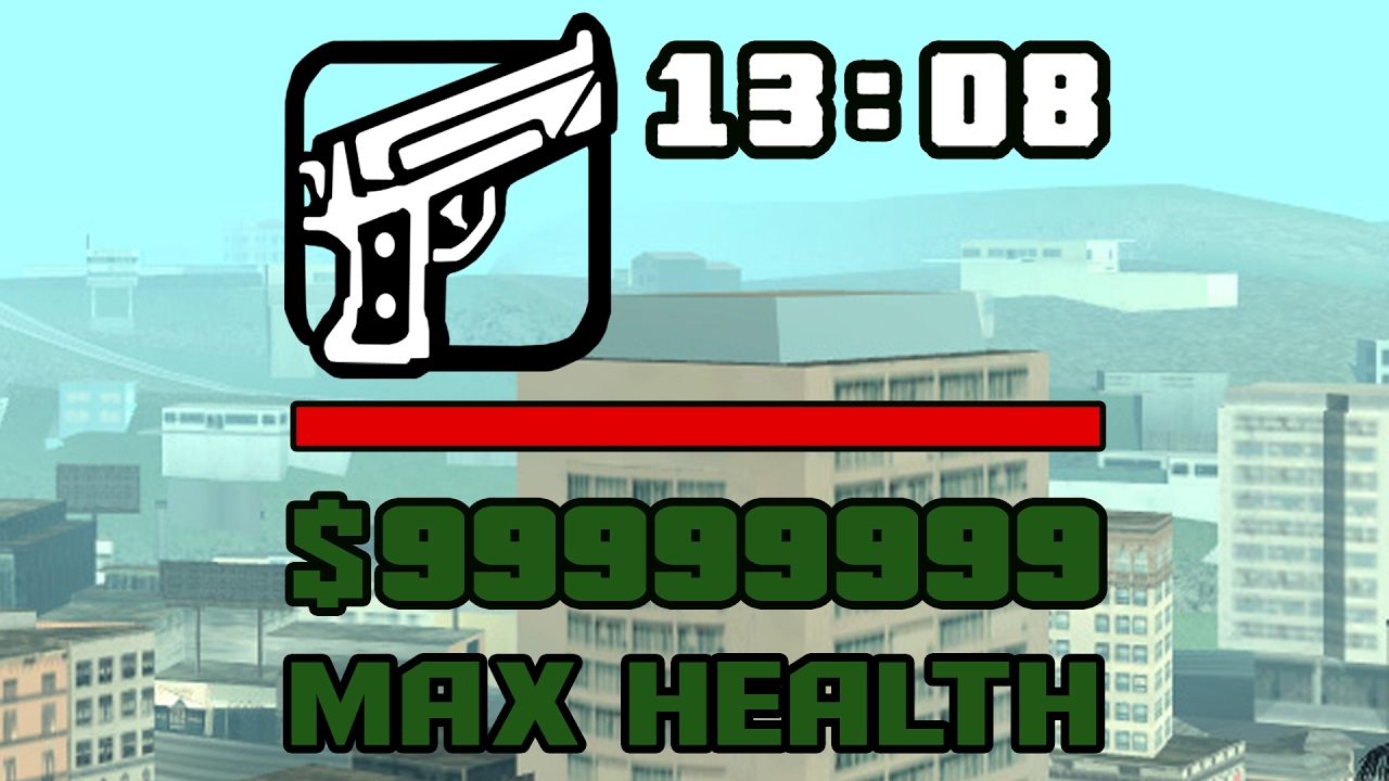 Как увеличить максимальное здоровье в GTA San Andreas